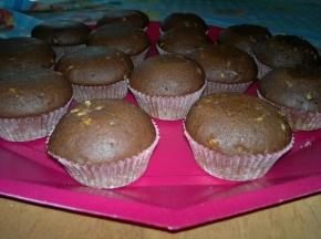 cupcake cioccolato e mandorle