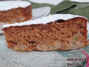Torta con farina di castagne e pere