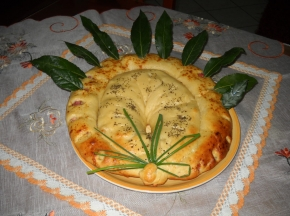 Ghirlanda delle feste salata