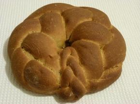 Ciambella intrecciata con farina integrale e burro di arachidi