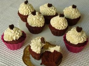 Cupcake con cacao e barbabietola