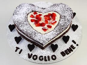 Torta cioccolato e fragole per la Festa della Mamma
