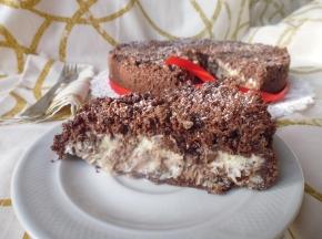 Sbrisolona al cacao con ricotta e gocce di cioccolato