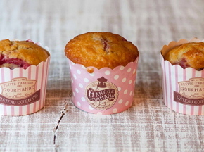 Muffin con fragole e vaniglia
