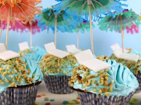 Cupcake a tema vacanze: con mare e spiaggia