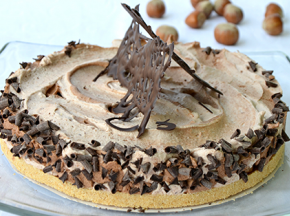 Torta variegata al gianduia