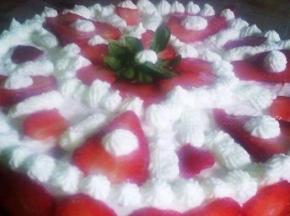 cheesecake ricotta panna fragole e pezzetti di cioccolato bianco