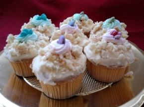 cupcake mimosa colorati