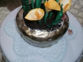 torta vaso di fiori