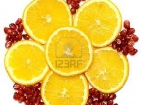 Mattonella al limone e melograno
