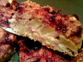 Torta di mele e marmellata di prugne