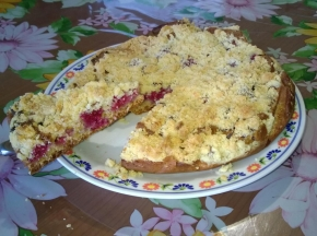 torta ai lamponi con crumble