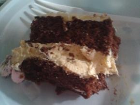 Torta al cioccolato con crema allo zabaione