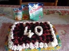 torta di frutta con gelatina