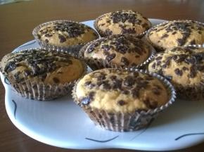 Muffin con decorazioni al cioccolato