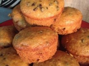 Muffin di cioccolato e patate dolci