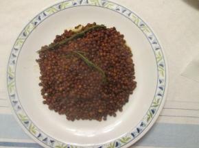 lenticchie in bianco