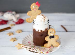 Cioccolata calda in barattolo con gingerbread