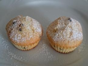 Muffin con yogurt e gocce di cioccolato
