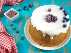 Chiffon cake ai frutti rossi