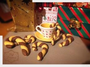 Bastoncini di biscotto di Natale
