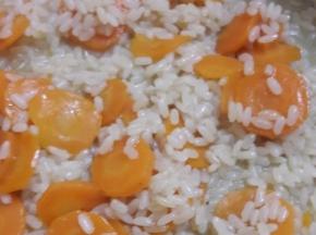 Risotto con carote