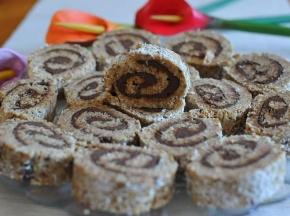 Girelle di pandoro, cocco e nutella