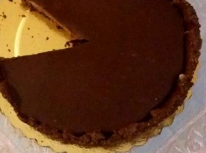 Crostata al cioccolato e caramello salato