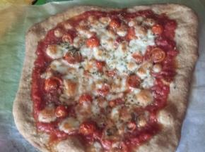 Pizza margherita (con ricetta dell'impasto per pizza )
