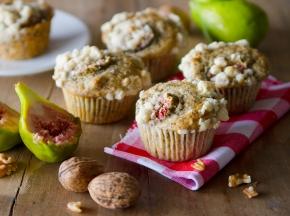 Muffin con fichi e noci