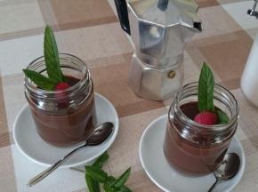 Budino al caffè e cioccolato