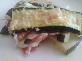 Teglie di zucchine e mozzarella