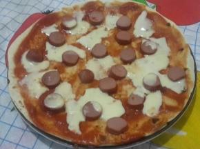Piadi-pizza con wurstel