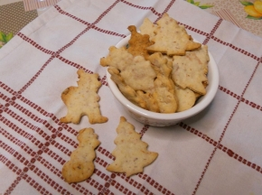 Biscotti salati crudo e parmigiano