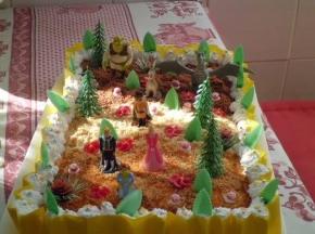torta  compleanno  shrek