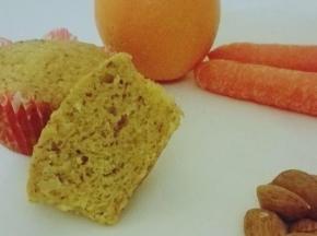 Tortine carota, arancia e mandorle