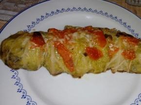 Involtini di verza con patate e salsiccia