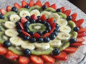 Crostata decorata