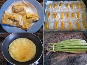 Crespelle asparagi e frittatina