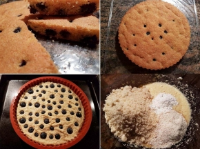 Torta soffice mandorle e mirtilli