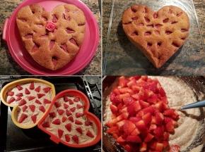 Torta mandorle e fragole (festa della mamma)