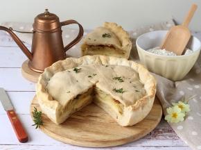 Torta salata gluten free patate e formaggio