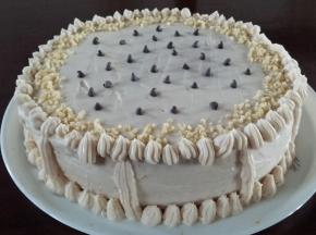 Torta farcita con crema di castagne e mascarpone