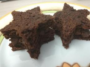 Stelle con crema al cioccolato