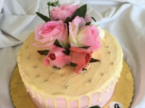 Drip cake rosa