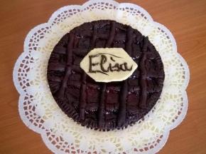 Crostata al cioccolato e confettura di lamponi