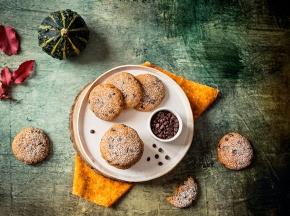Cookie speziati alla zucca e gocce di cioccolato