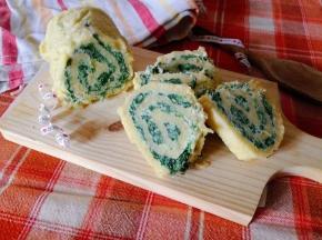 Rotolo di patate con ricotta e spinaci