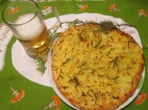 Pizza Rosti di Patate e Rosmarino 1 dolce sfida culinaria 2019
