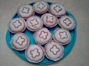 Muffin alla vaniglia con cuore di nutella